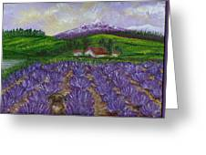 Nui In Lavender Field Greeting Card