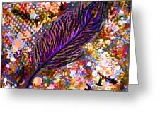 Nujabes' Feather Greeting Card