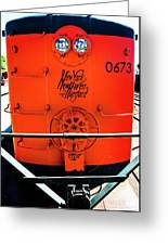 Number 0673 Train Greeting Card