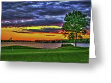 Number 4 The Landing Reynolds Plantation Golf Art Greeting Card