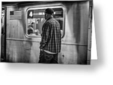 Number 4 Train Greeting Card