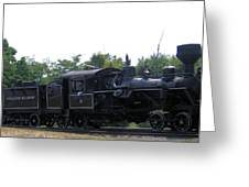 Number 6 Shay Steam Engine Greeting Card