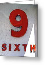 Number 9 Sixth From A 50's Building Greeting Card