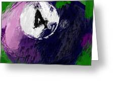 Number Four Billiards Ball Abstract Greeting Card