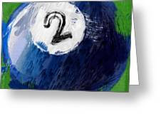 Number Two Billiards Ball Abstract Greeting Card