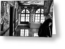 Nun By The Window Greeting Card