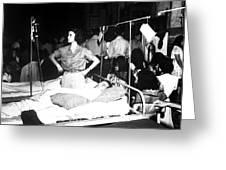 Nurse Adjusts Glucose Injection Greeting Card by Stocktrek Images