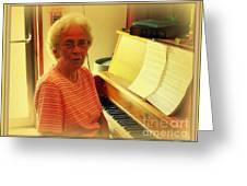 Nursing Home Piano Player Greeting Card