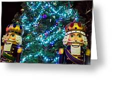 Nutcrackers On Guard Greeting Card