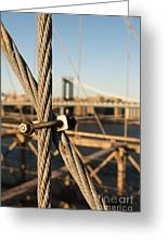 Nuts And Bolts Of The Brooklyn Bridge Greeting Card
