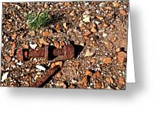 Nuts And Bolts Rusted Greeting Card