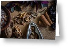 Nuts And Spices Series - Four Of Six Greeting Card