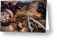 Nuts And Spices Series - Three Of Six Greeting Card