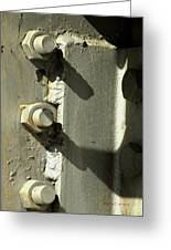 Nuts Bolts And Shadows Greeting Card