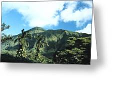 Nuuanu Pali Greeting Card