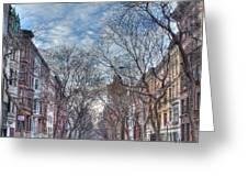 Ny City Street Greeting Card