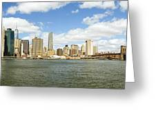 Ny East River Greeting Card