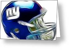 Ny Giants Helmet - Fantasy Art Greeting Card