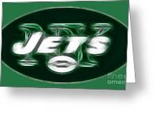 Ny Jets Fantasy Greeting Card
