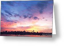 Ny Skyline Dawn Delight Greeting Card