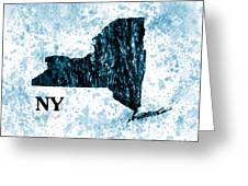 Ny State Map  Greeting Card