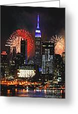 Nyc 4th Of July Fireworks Greeting Card