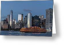 Nyc And Staten Island Ferry Greeting Card