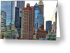Nyc Architecture Buildings Tall  Greeting Card