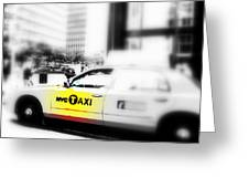 Nyc Cab Greeting Card by Funkpix Photo Hunter