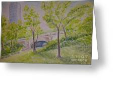 Nyc Central Park. Spring Greeting Card