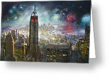 Nyc. Empire State Building Greeting Card