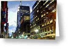 Nyc Fifth Ave Greeting Card