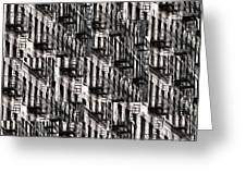 Nyc Fire Escapes Greeting Card