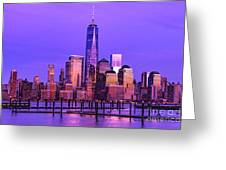 Nyc From Hoboken Greeting Card