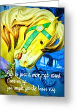 Nyc Golden Steed Quote Greeting Card