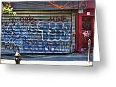 Nyc Graffiti Greeting Card