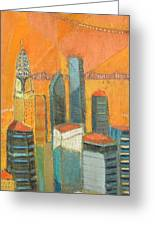 Nyc In Orange Greeting Card
