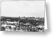 Nyc Panaroma Bw Greeting Card