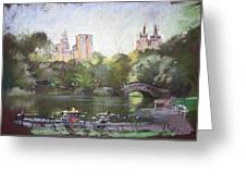 Nyc Resting In Central Park Greeting Card