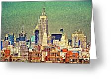 Nyc Scaped Greeting Card