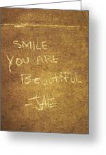 Nyc Street Art Quote Greeting Card