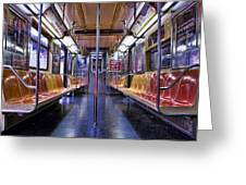 Nyc Subway Greeting Card