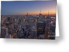 Nyc Sunset Greeting Card