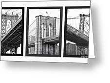 Nyc Three Bridges-east River Greeting Card