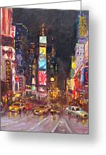 Nyc Times Square Greeting Card