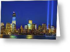 Nyc Tribute Of Lights 2012 Greeting Card
