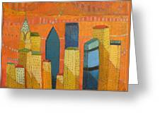 Nyc With Chrysler Greeting Card