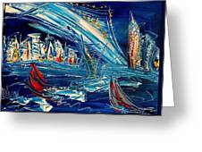 Nycity Blue Greeting Card