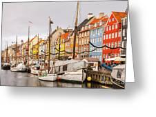 Nyhavn Area Copenhagen Greeting Card