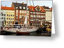Nyhavn Area Of Copenhagen Greeting Card